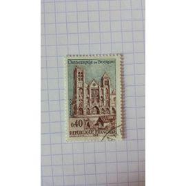 Lot n°1134 ■ timbre oblitéré france n ° 1453 ----- 40c brun-rouge et gris-bleu