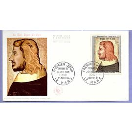 france enveloppe 1er jour timbre n°1413 le roi jean le bon le mans 25 avril 1964
