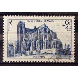 Cathédrale 1947 - Saint-Julien au Mans 6f+4f (Très Joli n° 775) Obl - France Année 1947 - N28241