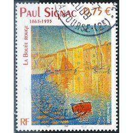 France 2003, Bel Exemplaire Yvert 3584, Oeuvre De Paul Signac, La Bouée Rouge, Oblitéré, Tbe