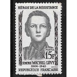 Timbre neuf de 1958,n°1159 Héro de la résistance:Simone Michel-Lévy.
