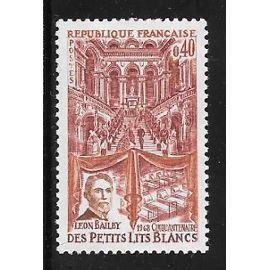 Timbre neuf de 1968,n°1575 Cinquantenaire du bal des Lits Blancs,Léon Bailby(1867-1954).