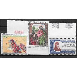 Timbres neufs de 1972,n°1732/1734 Oeuvres d