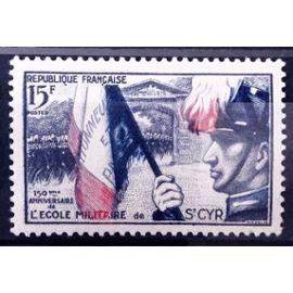 Ecole Militaire Saint-Cyr 15f (Impeccable n° 996) Neuf** Luxe (= Sans Trace de Charnière) - France Année 1954 - N11105