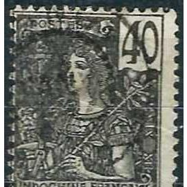 indochine (actuel vietnam), colonie française 1904, bel exemplaire yvert 34, type grasset 40c. noir sur gris, oblitéré, TBE