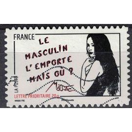 France 2011 Oblitéré Used Journée de la femme Le masculin l