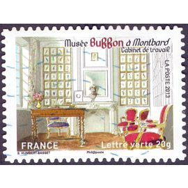 timbre Patrimoines de France - Maisons des Illustres Musée Buffon à Montbard. Cabinet de travail