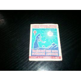 carnet de 10 timbres comité national de défense contre la tuberculose