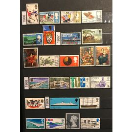 Lot de 71 timbres oblitérés Royaume-uni 1966/1973