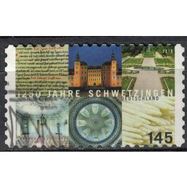 Allemagne 2016 Oblitéré Used 1250 Ans de la Ville de Schwetzingen SU