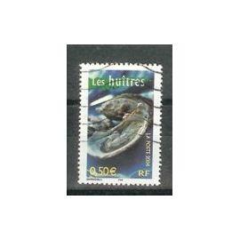 Timbre Oblitéré Portraits de régions N° 3 - La France à vivre Les huitres France Année 2004 - Yvert et Tellier n°3651