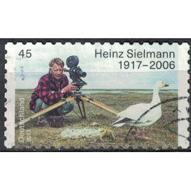 Allemagne 2017 Oblitéré Used Heinz Sielmann Biologiste Observation des Oiseaux SU