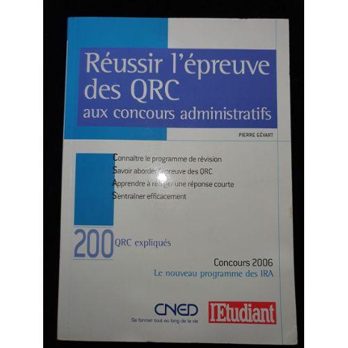 Reussir L Epreuve Des Qrc Aux Concours Administratifs Rakuten
