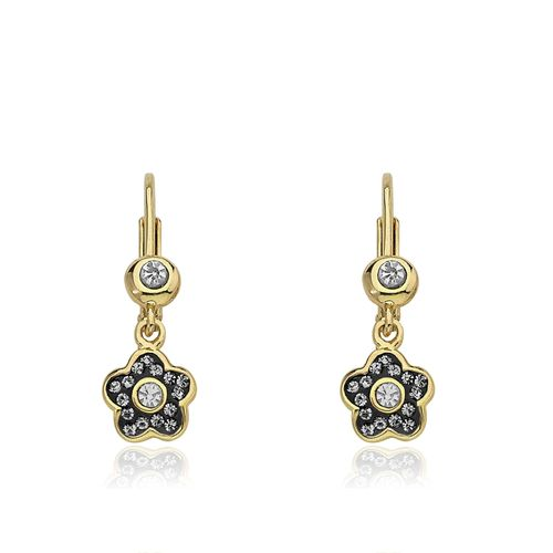 18K Gold filled-AMETHYSTE Morganite ovale oeil de chat multicouche Topaz Boucles d/'oreilles