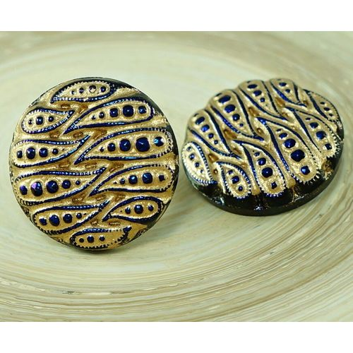 """5 x /""""Handmade/"""" Boutons en Bois Couture Craft Label Tag 15 mm Rond Multi-Trou."""