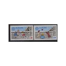 France / 2 Timbres neufs / Europa 1989  / Y & T n°2584/2585