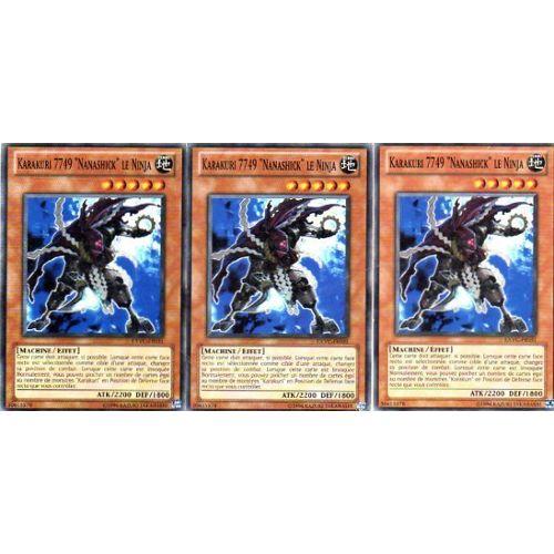 3x Karakuri 7749 nanashick le ninja Yu Gi Oh EXVC-FR031