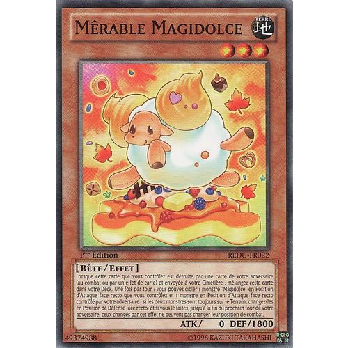 3x Mêrable Magidolce C Yu Gi Oh REDU-FR022 Madolche Baaple