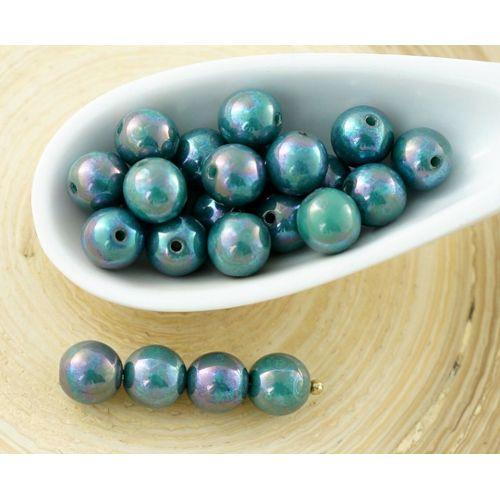 Brin de Blanc Howlite Turquoise Sculpté Croix Entretoise Perles