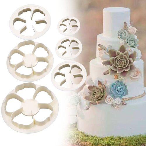 Fleur Bouquet Pics transparent Grand Tubes paquet of 6 Marriage//Floral Gâteau