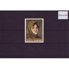 ROUMANIE 1975 : Série artistique - Portrait au foulard vert de ANDREESCU
