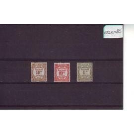 Algérie Française 1926 : Timbres-Taxe : Recouvrements - Lot de 3 valeurs neuves