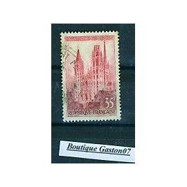 """France 1957: série touristique: 35F, """"Cathédrale de Rouen""""..Yvert n°1129..1 valeur oblitérée.."""
