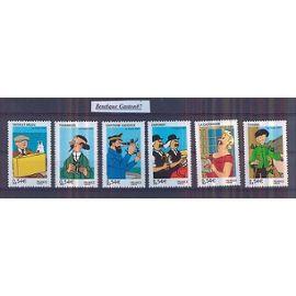 """FRance 2007:  série complète """"Les Voyages de Tintin""""..Y & Tn°4051 à 4056...6 Valeurs Neuves..."""