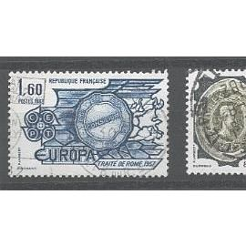 2 TIMBRES EUROPA OBLITERES 1982 - Y&T n°2207 - 2208