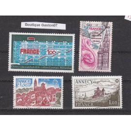 FRANCE 1977 : lot de 4  timbres oblitérés..Yvert & Tellier n°1922, 1928, 1935, 1948.,, ...4 valeurs oblitérées....