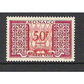 monaco, 1946-1957, timbres-taxe, (50 f. lilas & rouge), N°38 A.
