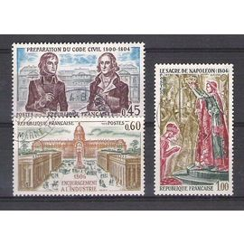 france, 1973, histoire de france, N°1774 à 1776, 3 valeurs.