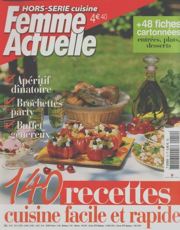 Femme Actuelle Hors Serie N 19 140 Recettes Cuisine Facile Et