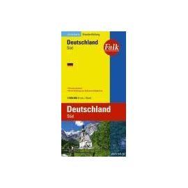 Falkplan Länderkarte Deutschland Süd 1 : 500 000