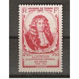 TIMBRE DE FRANCE NEUF ANNEE 1947 N° 779 JOURNée du timbre michel Le tellier ,marquis delouvois