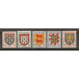 TIMBRE NEUFS DE FRANCE ANNEE 1951 N° 899 A 903 ARMOIRIES DE PROVINCES