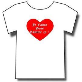 T Shirt Je Taime Gros Comme çast Valentindéclaration Damourmariagerencontretaillel
