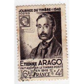 France 1947 - Y&T n°794 - 6f+4f - Journée du timbre - Etienne ARAGO - Oblitéré