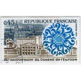 France 1974 - Y&T n°1792 - 45c - 25e anniversaire du Conseil de l