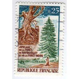 France 1968 - Y&T n°1561 - 25c - Jumelage de la forêt de Rambouillet et de la forêt noire - Oblitéré