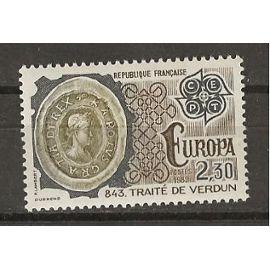 TIMBRE NEUF DE FRANCE ANNée 1982 N° 2208 EUROPA TRAITé de verdun