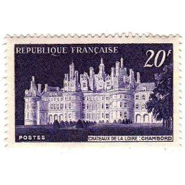 """France 1952 - Y&T n°924 - 20f - Château de Chambord & 1er spectacle """"son et lumière"""" - Neuf"""