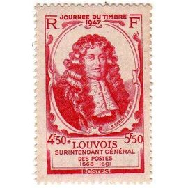 France 1947 - Y&T n°779 - 4f50+5f50 - Journée de timbre - Michel le Tellier Marquis de Louvois - Neuf
