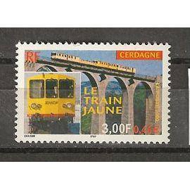 TIMBRE NEUF DE FRANCE année 2000 N° 3338 LE TRAIN JAUNE DE CERDAGNE