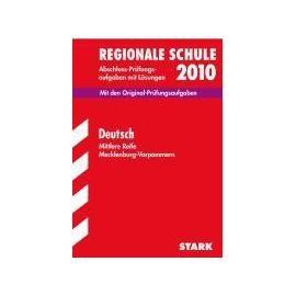 Regionale Schule 2012 Deutsch. Realschulabschluss (Mittlere Reife) Mecklenburg-Vorpommern