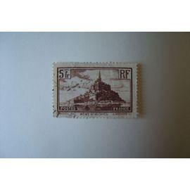 TIMBRE MONT SAINT MICHEL 1929/31 5 F. BRUN REF YT 260