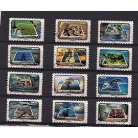 Série compléte oblitéré:Le timbre fête l