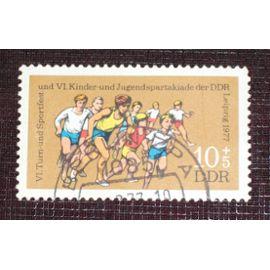 Allemagne RDA DDR N° 1917 oblitéré, 10p+5p « VIe fête gymnastique et sportive des enfants et des adolescents »
