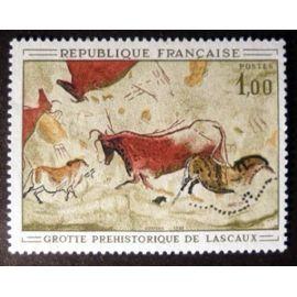 timbre neuf, peinture rupestre de la grotte de Lascaux, n° Y&T: 1555