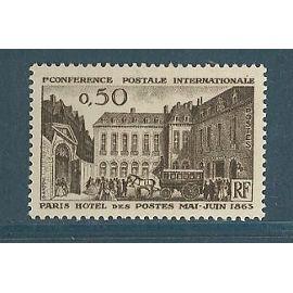 FRANCE ANNée 1963 N° 1387 NEUF**HOTEL DES POSTES EN 1863